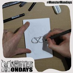 Our second monster is here..well on its way! Yay! For monster mondays! Progress shot #2 what do you spose it is? See it develop over the next few hours! Design will be available on T-shirts and Badges soon! Create Art Raise Awareness and manage your monsters! #MonsterMondays #monster #drawing #penandink #art #instaart #instaartist #artist #mentalhealth #mentalhealthawareness #anger #illustration #wip #lion #graphic #anxiety #depression #smashthestigma #stigmafighter #suicideawareness…