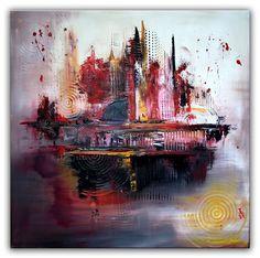 BURGSTALLER Abstrakte Malerei Bild Gemälde Acrylic Painting Peinture 100x100 INS