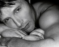 [DO IT, you know you want to.] Mads Mikkelsen. I've only seen photos. But what photos.