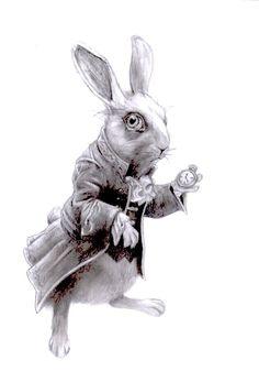 illustraties alice in wonderland | White Rabbit (Alice in Wonderland) by AishenZirthen