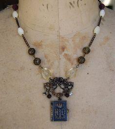 L'Apparition Vintage Assemblage Necklace by GraceOpulente on Etsy