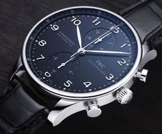 IWC Portuguese reference IW3714 (black, but it looks blue here) we insure classic watches like this #ctinsurance #cthomeownersinsurance