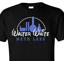 T-SHIRT BREAKING BAD WALTER WHITE METH LABS DRUG MDMA HEISENBERG ICE PINKMAN GUS