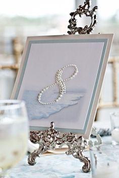 Marcadores de mesa para casamentos