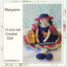 Au CROCHET poupée poupée finie poupée de collection par chepidolls