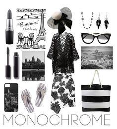 """Make It Monochrome"" by artpics ❤ liked on Polyvore featuring MARBELLA, STELLA McCARTNEY, Chloé, Tanya Taylor, Alexa Starr, Monique Péan, Chanel, MAC Cosmetics and monochrome"