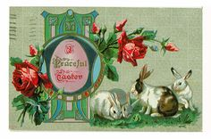 Vintage Antique Easter Card Postcard Edwardian 1911