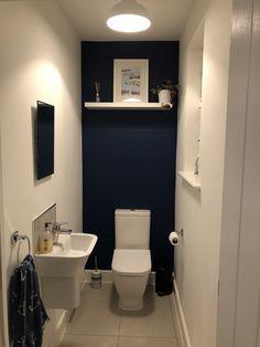 Small Toilet Room, Small Bathroom, Bathrooms, New Bathroom Ideas, Cloakroom Ideas, Dulux Blue, Downstairs Toilet, Decoration, Powder Room