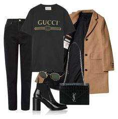 Untitled #3898 by camilae97 on Polyvore featuring polyvore, fashion, style, Gucci, Miss Selfridge, Paco Rabanne, Yves Saint Laurent, Ray-Ban and clothing