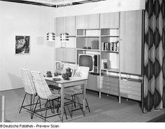 Rostock-Schutow. Ostseemesse, 1972. Musterwohnzimmer