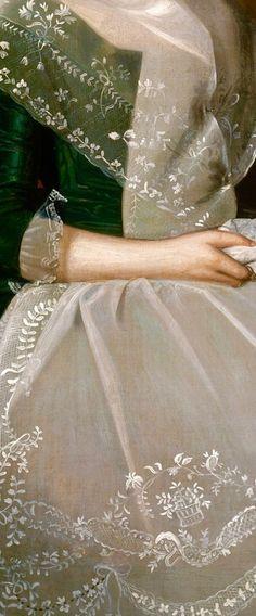 Mrs. Richard Alsop (Detail) by Ralph Earl