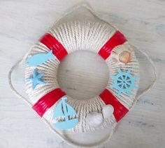 Námořnický věnec | Rodina21 #summer #navy #wreaths #diyhomedecor