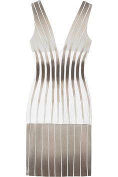 HERVÉ LÉGER  Plunge-front bandage dress