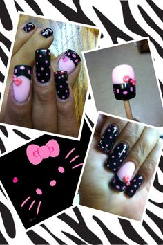Our favorite nail designs, tips and inspiration for women of every age! Red Nail Designs, Creative Nail Designs, Creative Nails, Bling Nails, 3d Nails, Hello Kitty Nails, Stiletto Nail Art, Japanese Nail Art, Pastel Nails