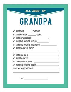 Grandpa Printables | Daddy Love {DIY Father's Day Craft} | Hip Mommies