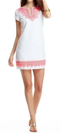 Island Embroidered Tunic Dress