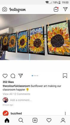 Project Ideas, Art Projects, 5th Grade Art, Sunflower Art, Art Lessons Elementary, Flowering Trees, Art Club, Tree Art, Famous Artists