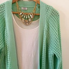 TOBI Mint Boyfriend Sweater NWOT New without tags. Never worn. Tag fell off but still has extra button. No flaws. Bought and just never wore it. Beautiful color. Long oversized BF style. No Paypal. No trades. No offers will be considered unless you use the make me an offer feature.     Please follow  Instagram: BossyJoc3y  Blog: www.bossyjocey.com Tobi Sweaters