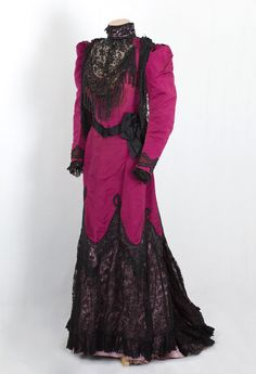 House of Worth, beaded silk faille dress, c.1890. From VintageTextile.