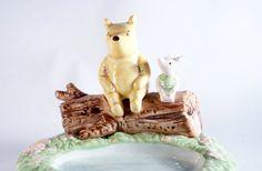 Pooh Springs Winnie Disney Figurine Retired by DoorCountyVintage