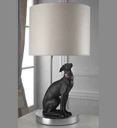 Amazon.com - Lladro Attentive Greyhound Lamp - Table Lamps