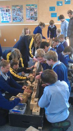 """Kingsway Kids """"The Aqua Duct"""" Challenge, fully engaged, all cogs turning..."""