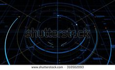 Abstract technological background made of different shapes and texts. Rich details and depth of field effect.  - stock photo