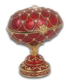 Red fabrege egg music box