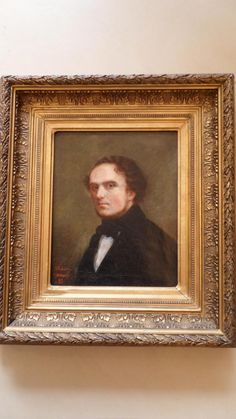 """""""Man in posture"""", #oil on #canvas. Original #gilded frame. #19th century. For sale on #Proantic by LE 19."""