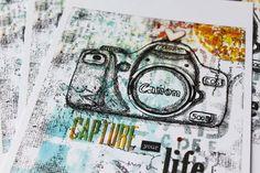 """Kunstdruck von Mixed Media Motiv - """"Kamera"""" von Scrapmanufaktur auf DaWanda.com"""