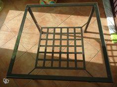 Table basse fer forgé et verre  10euros for a diy