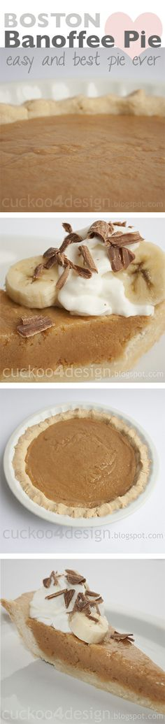 best pie ever - Boston Banoffee Pie (creamy, toffee-style filling)