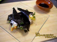 Sushi Temaki con Tempura Tempura, Sin Gluten, Sushi, Frijoles, Cabbage, Pudding, Desserts, Food, Rice Flour