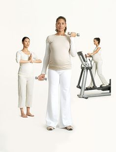 The pregnant woman's guide to the gym. This is good for when we do get pregnant!