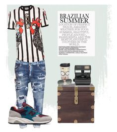 """""""new balance"""" by danilomk on Polyvore featuring Dolce&Gabbana, Dsquared2, Home Decorators Collection, Impossible, New Balance, Tervis, Ray-Ban, men's fashion and menswear"""