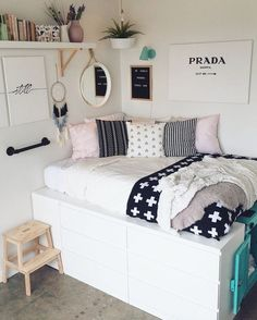51 free inspiring small teen bedroom ideas you will love 40 Wonderful Teen Bedrooms Bedroom Free ideas Inspiring love Small Teen Small Bedroom Storage, Bedroom Storage, Bedroom Design, Teenage Girl Bedrooms, Stylish Bedroom, Stylish Bedroom Design, Small Bedroom, Simple Bedroom, Girl Bedroom Decor