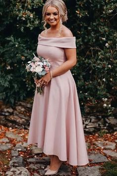Dusty Pink Jersey Off the Shoulder High Low Ankle Length Bridesmaid Dresses with Satin, SFB, This dress could be custom made, there are no extra cost to do custom size and color. Burgundy Homecoming Dresses, Elegant Bridesmaid Dresses, Cheap Prom Dresses, Strapless Dress Formal, Formal Dresses, Wedding Dresses, Bridesmaids, Off Shoulder Bridesmaid Dress, Tea Length Bridesmaid Dresses