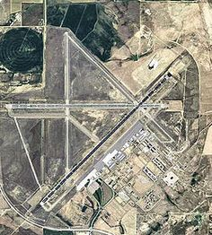 Casper-Natrona County Intl. Airport, Wyoming, from above.