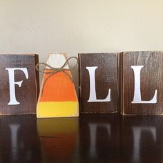 Wood Fall Pumpkin Block set Seasonal Home Decor for fall wood crafts crafts design crafts diy crafts furniture crafts ideas Thanksgiving Wood Crafts, Fall Wood Crafts, Halloween Wood Crafts, Wood Block Crafts, Fall Halloween, Wood Blocks, Halloween Blocks, Jenga Blocks, Thanksgiving Decorations Outdoor