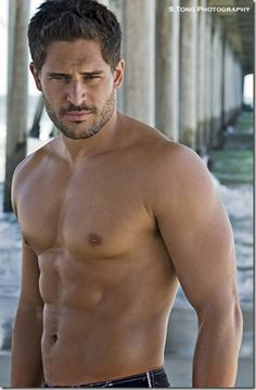 Joe Manganiello, who will always be Owen the Bartender to me (except when he's being Brad)