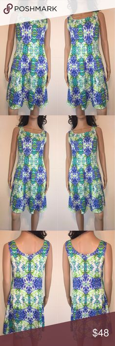 NWOT Floral Print Fit and Flare Dress Beautiful floral printed fit and flare with zipper back closure and has seen pockets. Perfect dress for spring or summer.  * 97% Polyester, 3% Spandex * Hand Wash * Slimming fit and flare waist Tiana B. Dresses