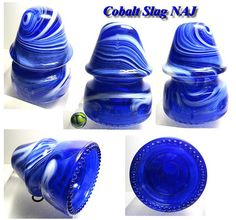 RDP 's Early Cobalt Slag NAJ Hemingray 19 Glass Insulator VVNM | eBay