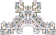 Architecture is art Condominium Architecture, Social Housing Architecture, Concept Architecture, Residential Architecture, Residential Building Plan, Building Design Plan, School Floor Plan, Habitat Collectif, Hotel Floor Plan