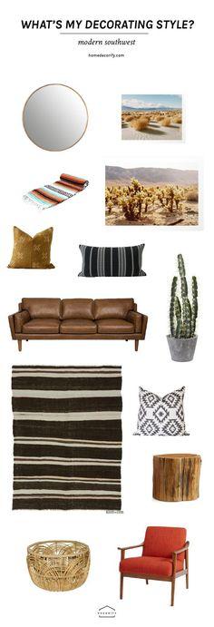 Modern Southwest Decor | Global Home Decor | Boho Home Decor | Mudcloth | Midcentury