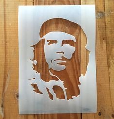 Che Guevara reusable STENCIL for home interior decor - Available in sizes: A5, A4, A3, A2, A1 - Stencil is cut from a reusable, durable 190mic mylar that is easy to clean - Single layer - Non adhesive - Suitable for both spraying and painting onto walls, furniture, clothing and just