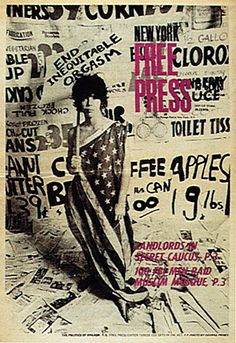 A 1968 issue of The New York Free Press, art directed by Steven Heller when he  was 17 years-old (image via an article on Heller by Paula Scher for AIGA)