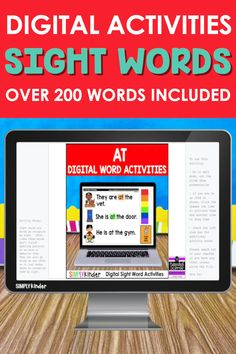 You know you need to reach your students at home and at school. Our Sight Word Activities for Google Classroom and Seesaw are exactly what you need for a low stress activity! With over 200 words, these interactive slides help students practice the words that they need to know. Don't hesitate and click the link to check it out today!