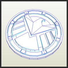 Agents of S.H.I.E.L.D. Insignia Free Papercraft Download - http://www.papercraftsquare.com/agents-s-h-e-l-d-insignia-free-papercraft-download.html