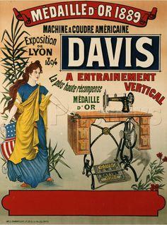 Vintage Sewing Machine Posters