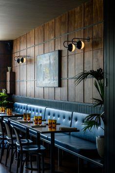 restaurant deko 16 Ideas For Wall Paneling Restaurant Bar Designs